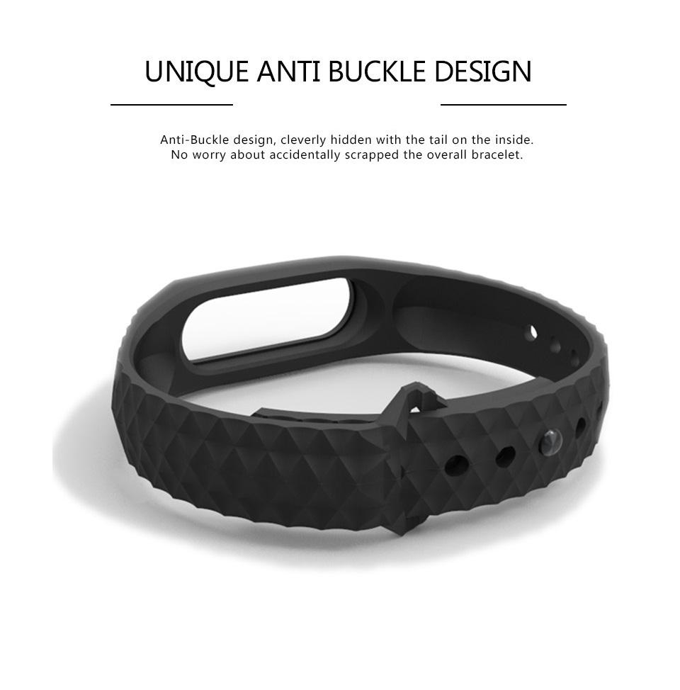 Mijobs Xiaomi Mi Band 2 Strap Silicone Strap Bracelet Replacement Wristband Smart Band Accessories Colorful wrist Strap 7