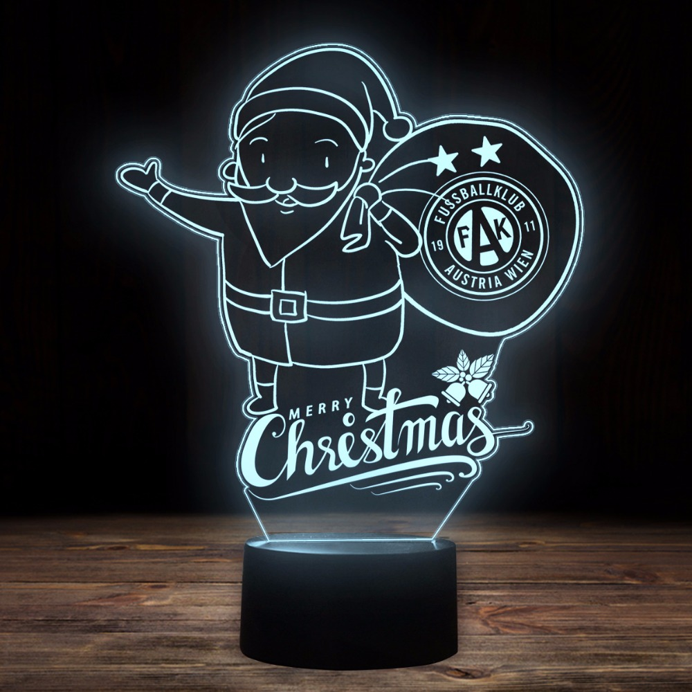 3D Led Football Night Light Usb 7 Colors Change Santa Claus Desk Lamp Kids Bedroom Bedside Sleep Lighting Decor Sports Fans Gift