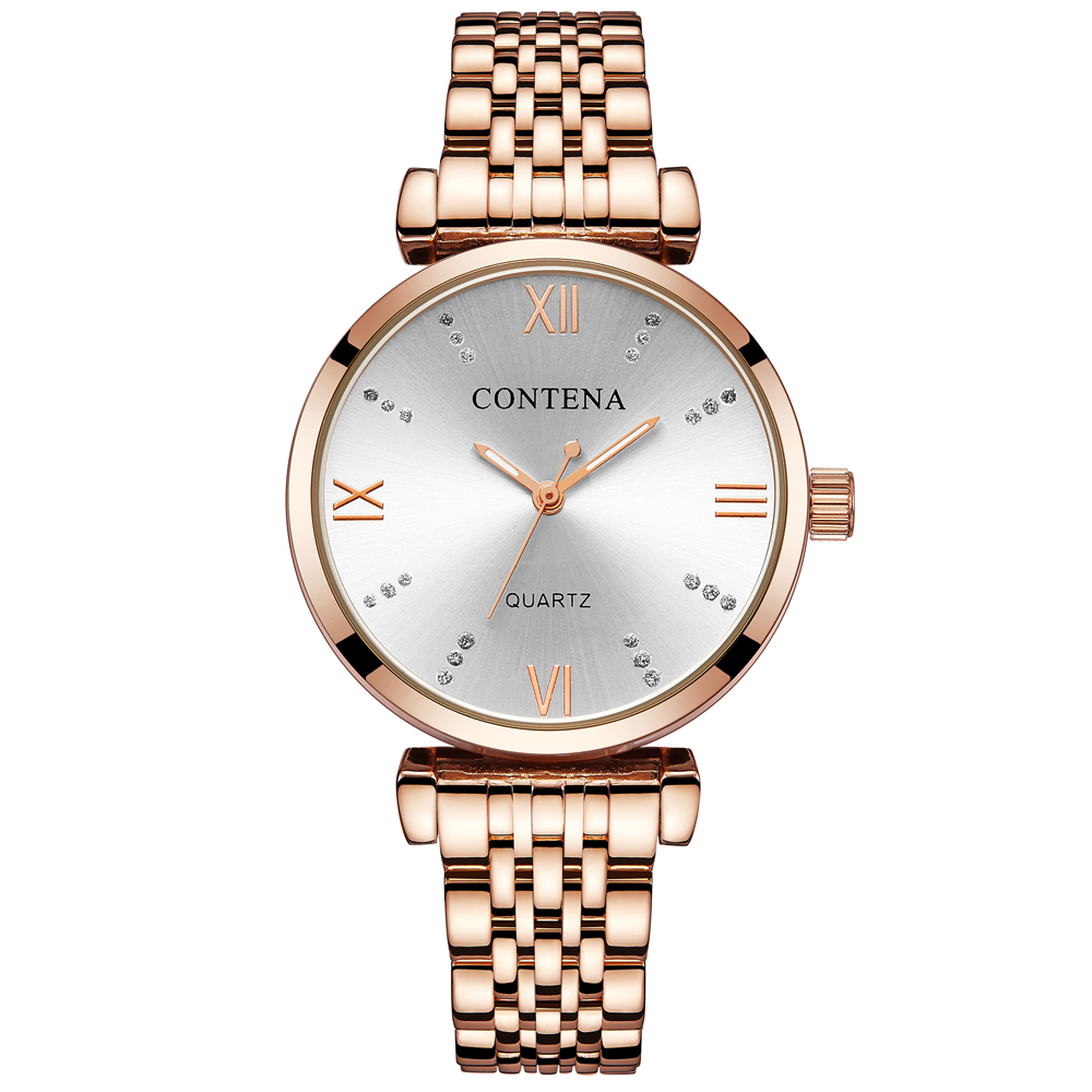 Ultra-thin Women's Watches Rose Gold Ladies Watch Bracelet Quartz Women Wrist Watch Female Montre Femme Clock Relogio Feminino 1