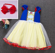 New Snow White Dress Girl Party Princess Child Tulle Tutu