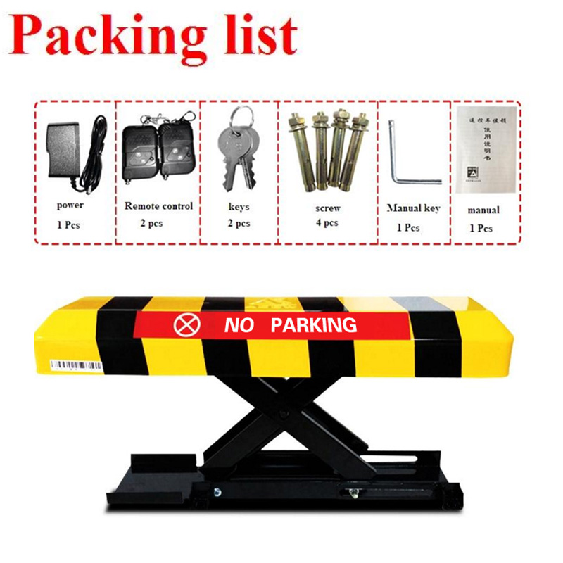 Remote Control Car Parking Barrier, Parking Space Barrier Height 300mm Parking Post Barrier Bollard