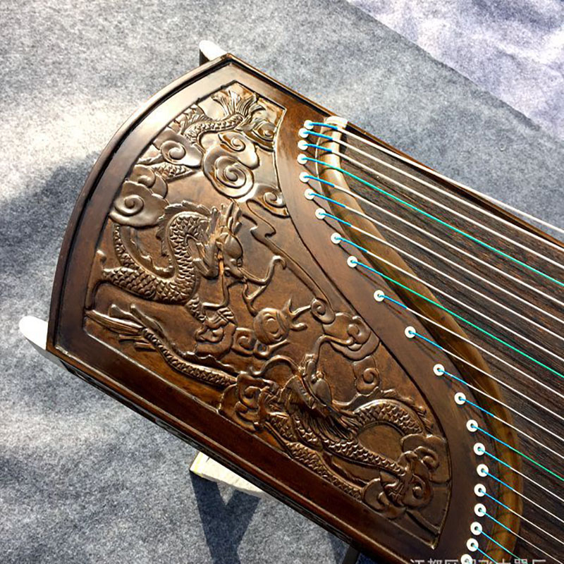 Antiquity Guzheng Engraving High-End Collection Elm Body