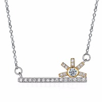 INALIS 2017 Key Sunflower Design Pendant Necklace Austria Crystal Charm Lady Creative Party Gift 925 Sterling