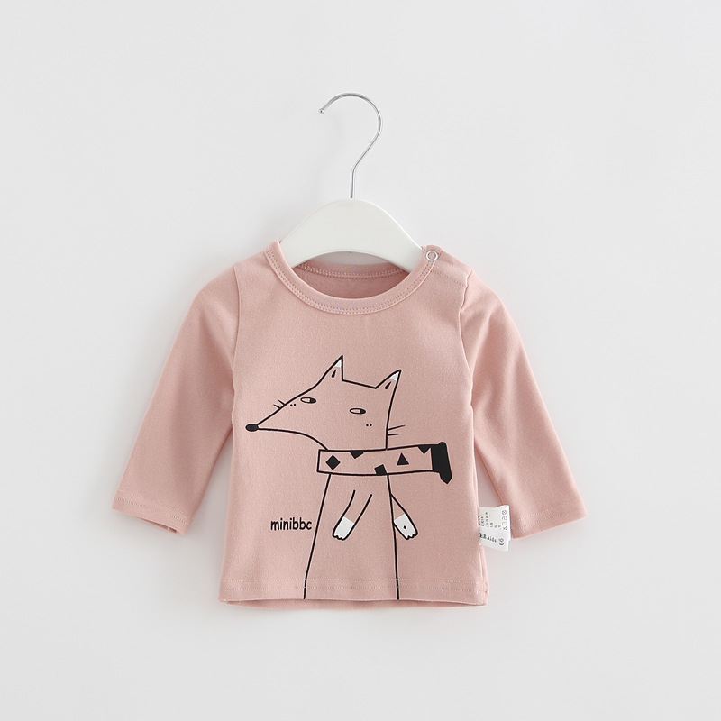 2017 Toddler Kids Baby Boys Girls Infant spring Autumn Long Sleeve cartoon Fox T-Shirt Tops Clothing Cotton cloud rain T-Shirts (9)