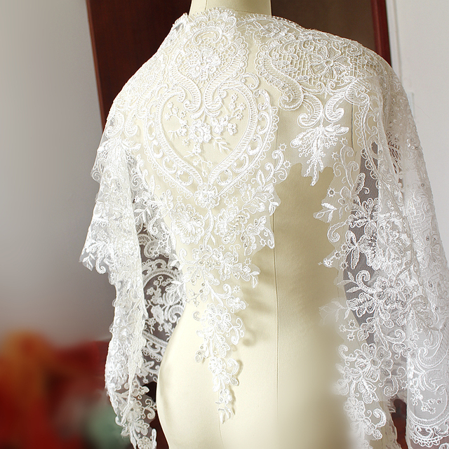 54CM wide High quality embroidery big lace trim sewing for wedding ...