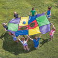 12pcs/set Colorful Patchwork Mat Kids Toy Team Work Building Game Outdoor Games Portable Large Playmat Pieces Shape DIY Build