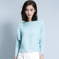 Women Elegant Knitted Sweater Shirt Womens Fasion Casual Slash neck Tops Long Sleeve Loose Pullover Female Autumn Spring Ma310