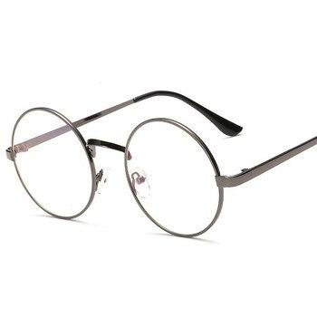 2018 Новый sm01-sm23 Стиль восстановление древних способов Круглые Солнцезащитные очки женские Ретро металлический каркас очки прозрачные линзы...