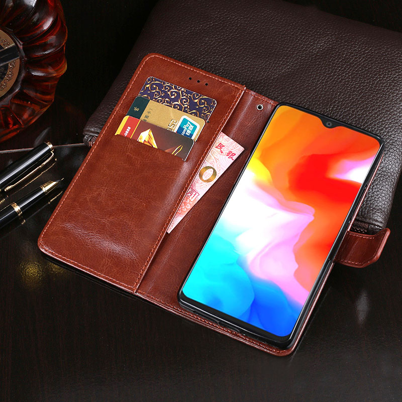 Oneplus 6t Mclaren Leather Wallet Sleeve Case Pdair Red: For Oneplus 6T Case Flip Business Wallet Leather Coque