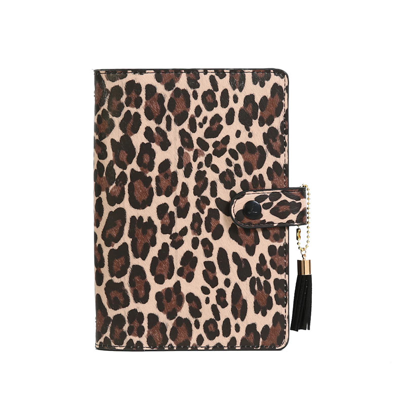 Lovedoki A6 Creative 15mm Ring Size Leopard Diary Binder Notebook Portable Planner Book  Stationery-in Notebooks from Office & School Supplies