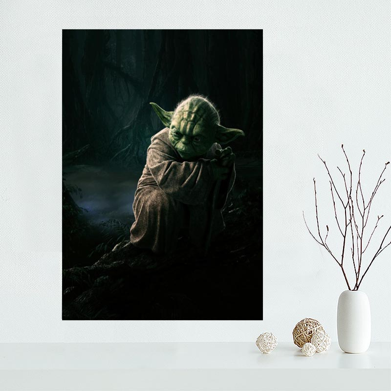 Canvas Painting Poster Wall-Art Print May Fabric Cloth Yoda High-Quality