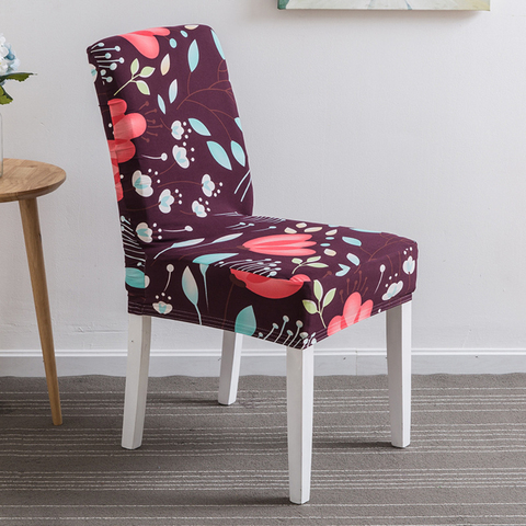 1PC Flower Printing Removable Chair Cover Stretch Elastic Slipcovers Restaurant For Weddings Banquet Folding Home Chair Covering Multan