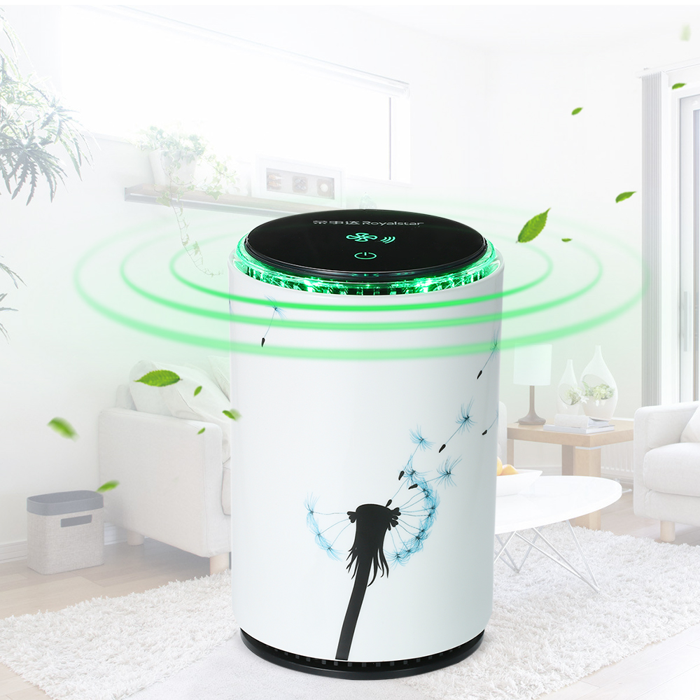 Portable Air Purifier with True HEPA Filter USB Mini Air Cleaner Night Light Cigarette Smoke Odor