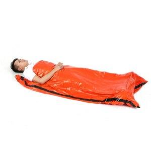 Image 3 - 新しい高品質軽量キャンプ寝袋屋外緊急寝袋巾着袋キャンプ旅行ハイキング