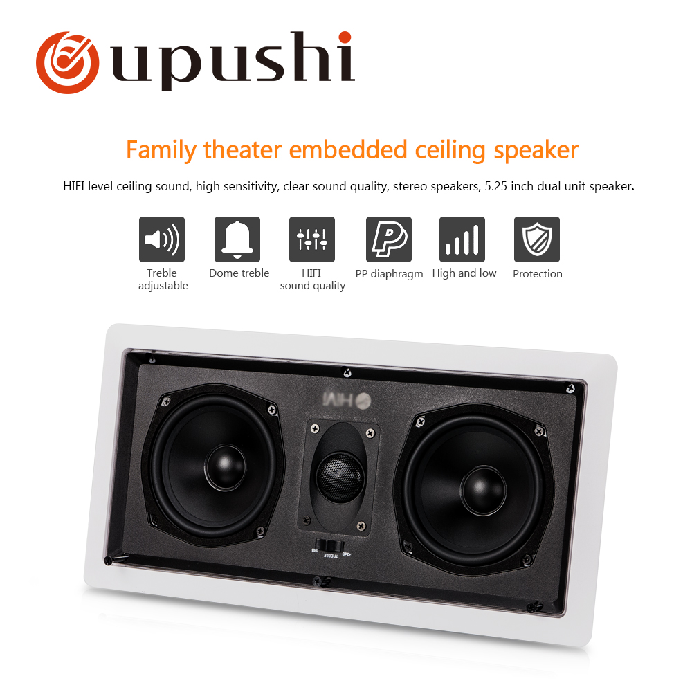 Oupushi ceiling speaker best stereo audio music player home surround sound system 2 way portable loudspeakers