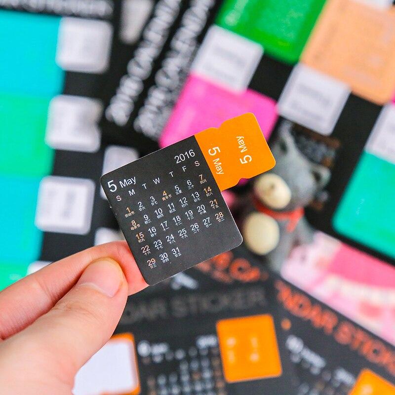 1 Pcs 2017 DIY Colourful Kawaii Cute Planner Calendar Scrapbooking Stationery Sticker Office School Supplies Kids Student Child