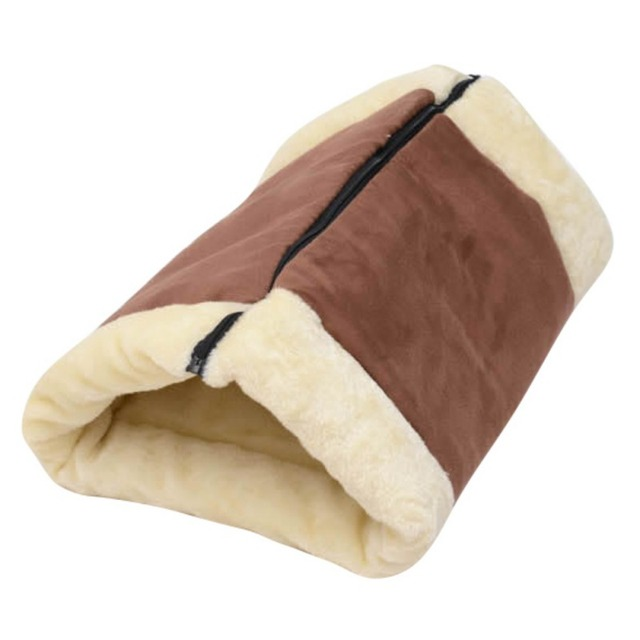 2-in-1 Warm Removable Cat House Pet Bed Tunnel Fleece Tube Dog Puppy Kitten Indoor Cushion Mat Kennel Cage Shack Useful