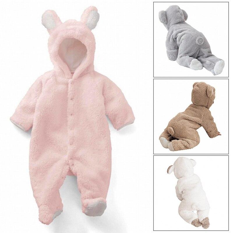 Chirstmas Baby Romper Girls Deer Xmas Tree Leater Winter Warm Jumpsuit Hat Layette/Set