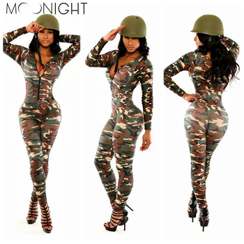 MOONIGHT Sexy Adult Women Army Uniform Costume Sexy Party Costumes Soldier Women Camouflage Color Halloween Masquerade costume