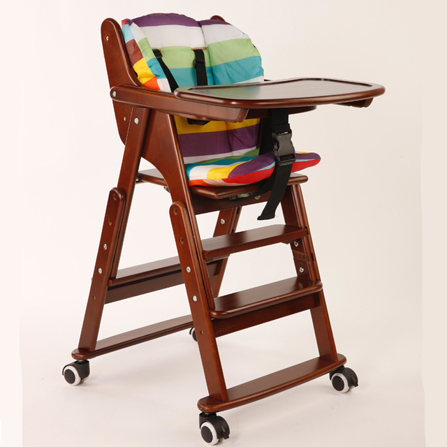 baby high chair wood children s fashion simple folding chair