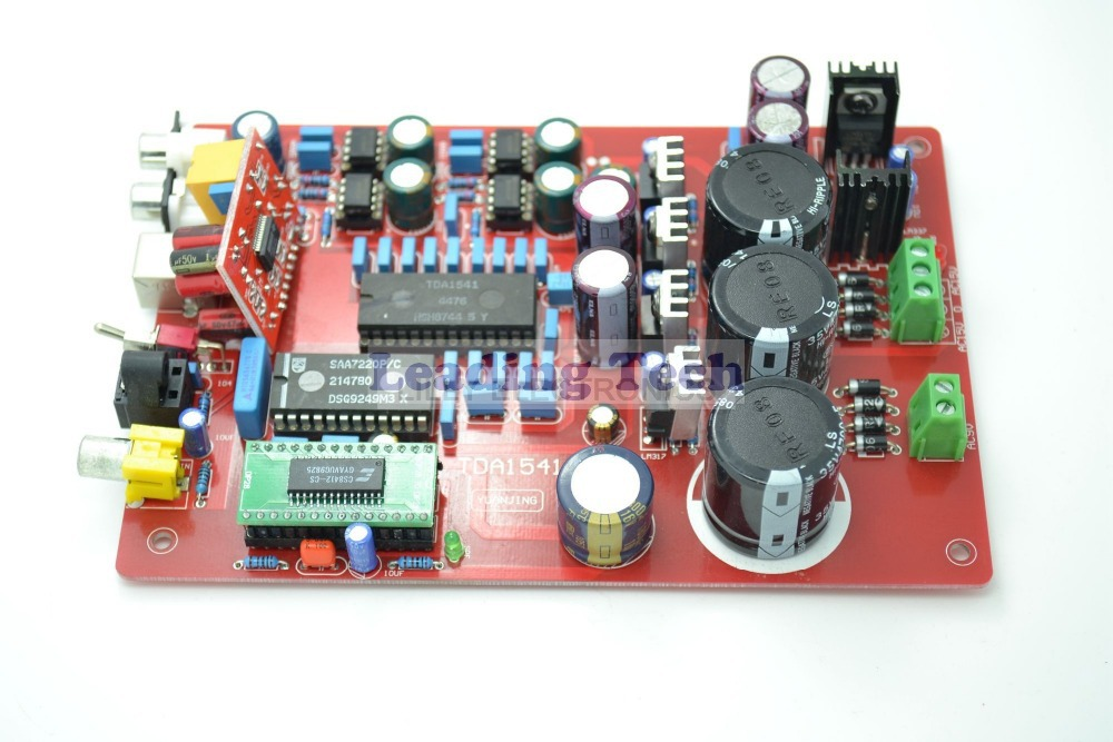 TDA1541+SAA7220+CS8412+NE5534 Fiber Coaxial USB PCM2704 DAC Board AC15-0-15V 10W аудио усилитель topping tp23 ta2021b classt usb pcm2704 uda1351ts