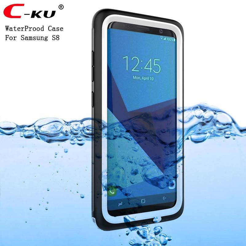 imágenes para Caja Estanca para Samsung S8 C-KU, Además de Natación Bajo El Agua Caja de la Cubierta Del Teléfono Móvil para Samsung Galaxy S8 Playa Buceo Plástico
