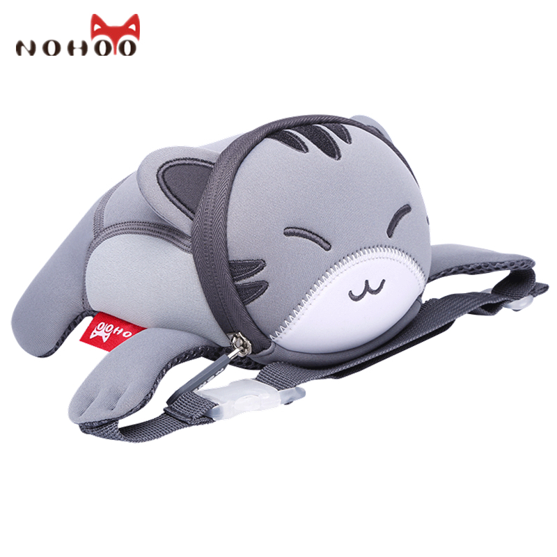 Nohoo 3D Waterproof Cartoon Kids Baby Bags Cute Animals Waist Bags for Toddler Casual Bags for Kidergarten Girls Boys new children cartoon bags cute elephant mini handbag for girls boys pure cotton animals kids baby bags handmade a limited