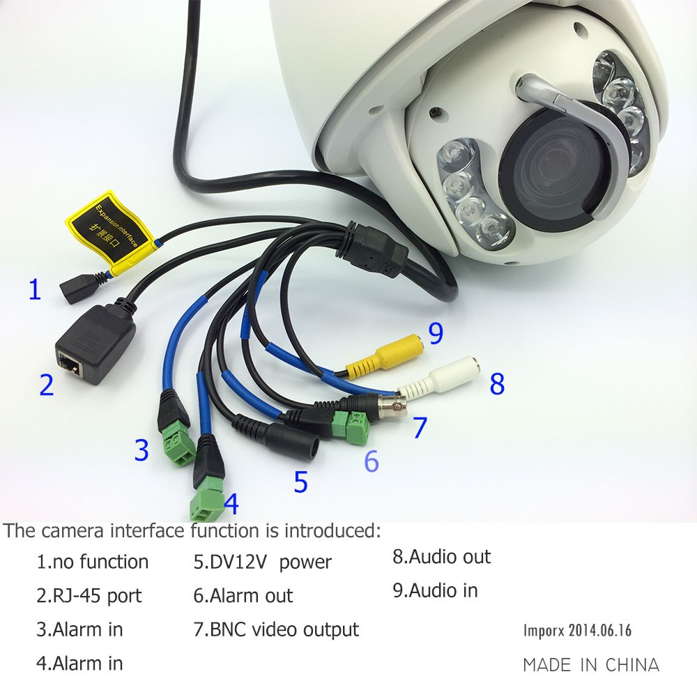POE Audio CCTV Camera IP 20/30X Zoom Camera High Speed Dome Network 1080P Auto Tracking  ...