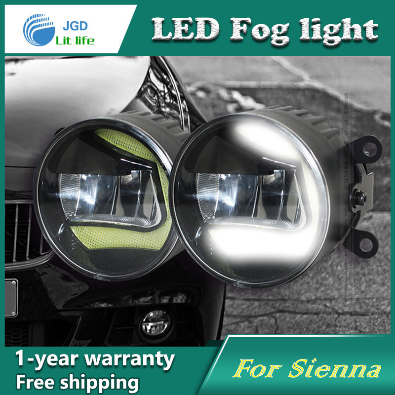 2pcs/lot Super White 8 LED Daytime Running Lights For Toyota Sienna 2011 Drl Light Bar Parking Car Fog Lights 12V DC Head Lamp 2pcs universal car daytime running lights 8 led drl daylight kit super white 12v dc head lamp free shipping