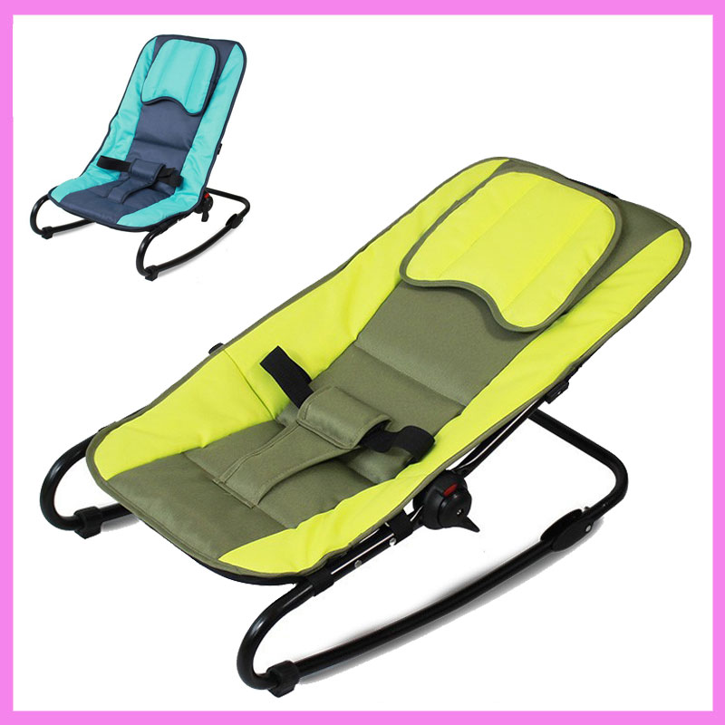 Adjustable Baby Bouncer Portable Folding Newborn Baby Rocking Chair Swinging Lounge Recliner Balance Chair mutifunctional portable adjustable infant baby swing rocking chair for newborn cradle lounge recliner recliner baby toys