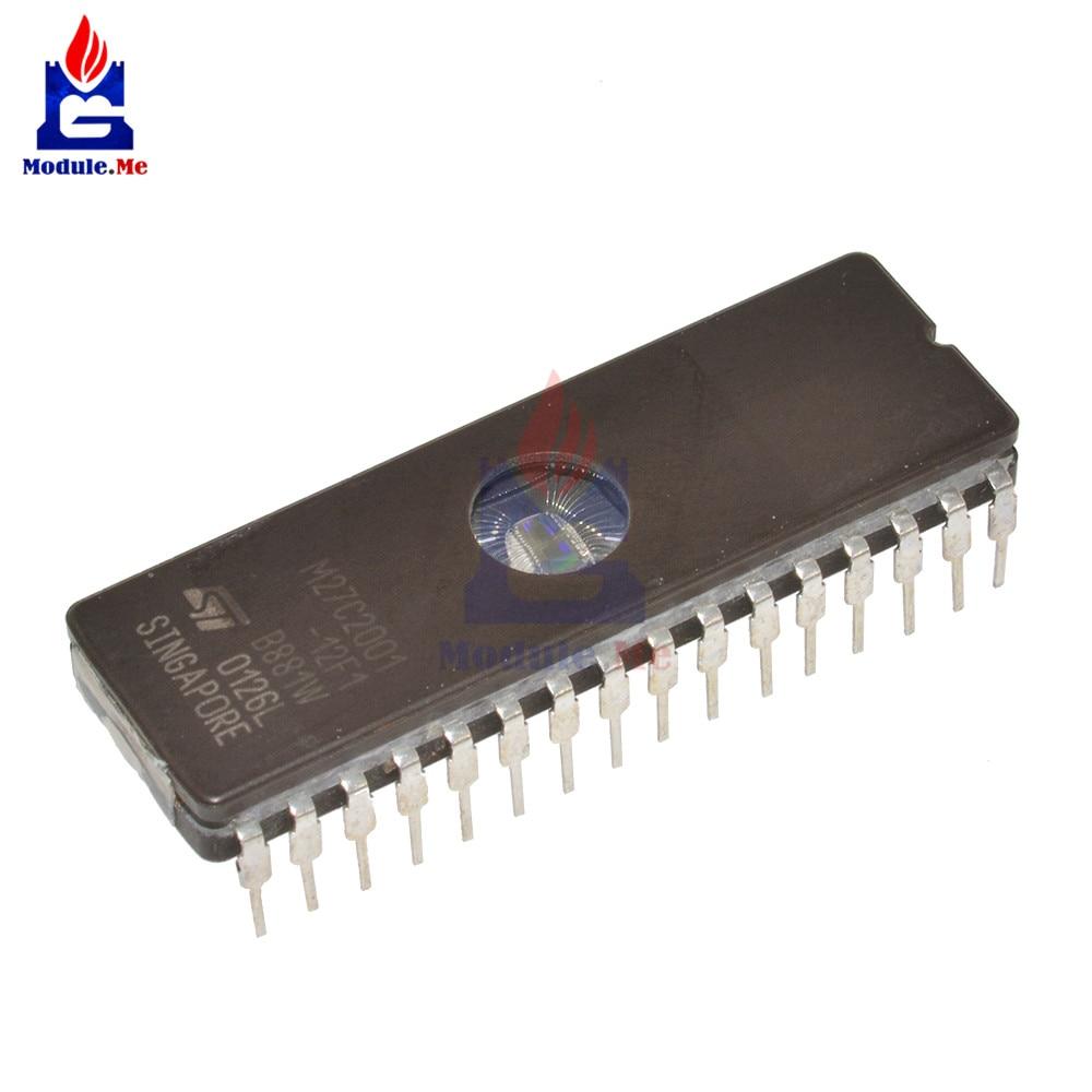 2PCS IC M27C512 M27C512-10F1 27C512 CDIP-28 EPROM UV ST NEW