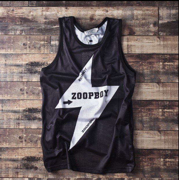 Topos homens tanque zoop meninos masculino barato malha camisola solta hiphop plus size promoção iluminação incrível legal boate dançando