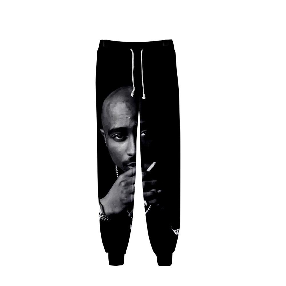 2019 2PAC Pants Men Hip Hop Pants 2PAC Trousers Kpop Fashion Casual High Quality Casual Warm Pants Slim 2PAC Pants
