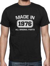 Hipster Tee Shirt Homme Men'S Tall O-Neck Birthday Idea Made In 1976 41St Birthday Present Short-Sleeve T Shirt