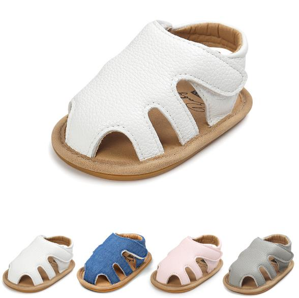 New Jeans hollow Crib sandals cute style Boys girls Pu leather sandals Rubber sole infant sneakers baby sandals