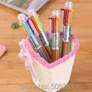 Image 5 - 50 stks/partij Multicolor Balpen, 6 kleuren balpen, leuke balpen gift pen voor kinderen en student.
