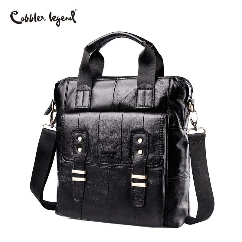 Cobbler Legend Genuine Leather Bag Tote Laptop Briefcases Men Bag Cowhide Men Crossbody Bags Men