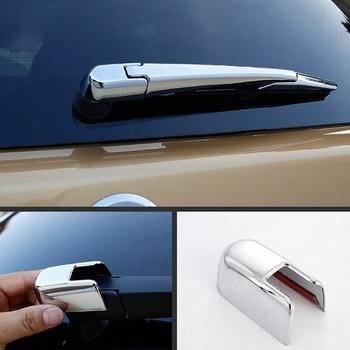 Abs chrome tira de limpador traseiro do carro capa guarnição estilo do carro para nissan navara np300 2015 2016 2017 2018 acessórios 3 pçs