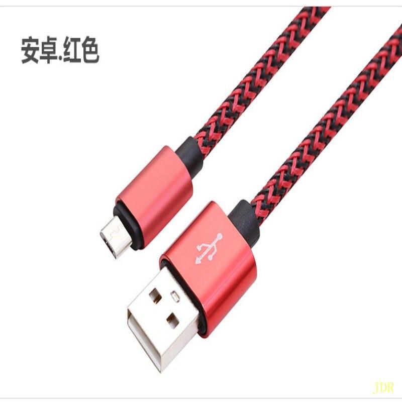 Le fabricant en gros charge rapide est applicable pour android apple téléphone câble de données universel USB métal tressé corde chargi