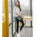 2016 primavera e outono básico fashion solto outerwear denim jaqueta jeans branco 2212 #