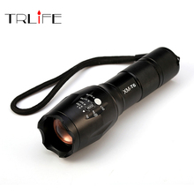 E17 CREE XM-L T6 8000 Lumens Cree Led Torch Zoomable Cree LED Flashlight Torch Light for 3xAAA or 1×18650 Free Shipping