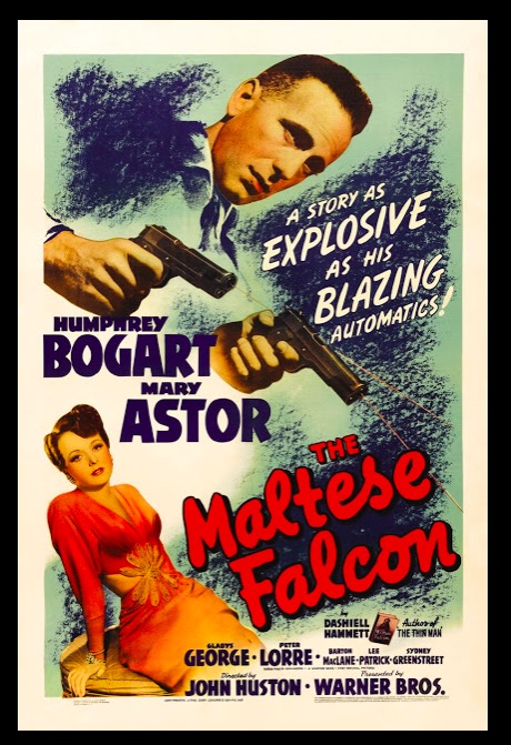 The Maltese Falcon Classic Movie Film Noir Retro Vintage Poster Canvas Painting DIY Wall Paper Home Decor Gift image