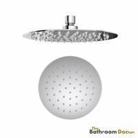8 Round Shower head, SUS304 Stainless Steel Rainfall Ceiling Mounted or Wall Mounted Fixed Shower Head, Chrome, 03 173