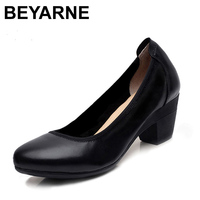 new32 43 Large size women shoes soft genuine leather comfortable low high shoes business casual office high shoes for women