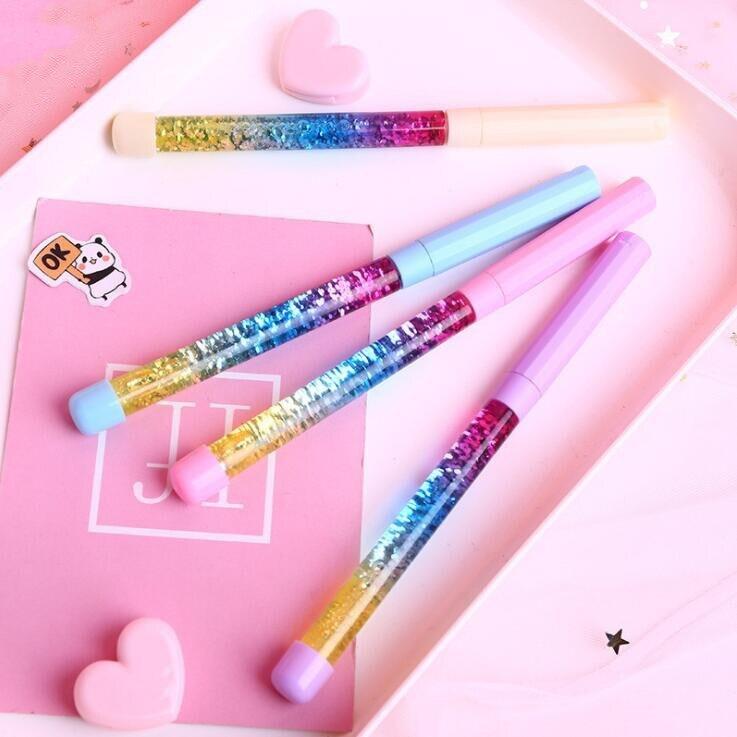 Beautiful Shining Liquid Flowing Pen Magic Wand Writing Pen Signature Pen School Office Students Stationery Supplies