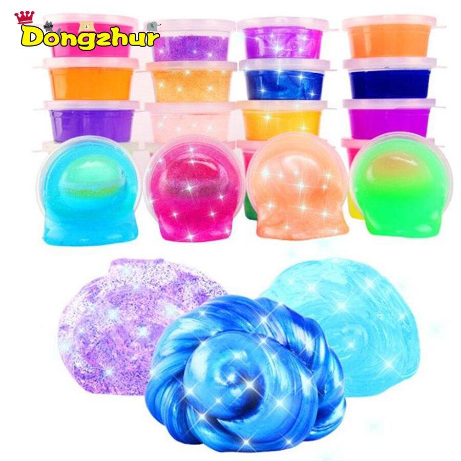 12 pièces Non-toxique Glitter Slime Éducatifs gelée de cristal Mastic Boue Creative Enfants Cadeau Stress Enfants Jouet Pour sacs pour l'équipement STS8192