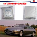 Full Car Cover UV Anti Outdoor Rain Sun Snow Preventing Protector Cover Dustproof For Peugeot 406