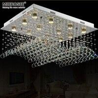 Luxuoso do candelabro de Cristal de Iluminação da lâmpada lustre de Cristal Moderna luminária de cristal para o Projeto Do Hotel escada Foyer