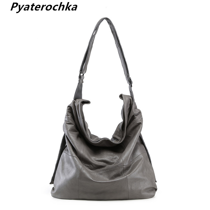 Pyaterochka Genuine Leather Crossbody Shoulder Bags Large Capacity Casual Tote Luxury Handbags 2018 High Quality Messenger