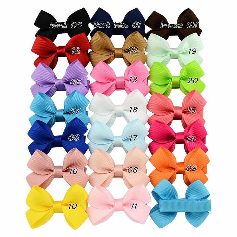 Soild リボン蝶ネクタイ女の子子供 Hairclips ちょう結びすべてラップヘアクリップ子供ヘアピン新生児ヘッドドレスヘアアクセサリー